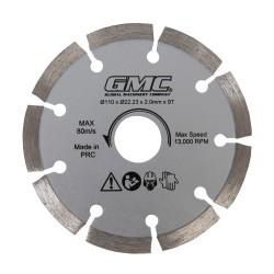 Disco de corte diamantado 110 x 22,23 x 2 mm, 9 dientes