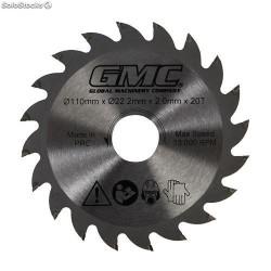 Disco de corte TCT GTS1500  de 110 x 22,2 mm, 20 dientes