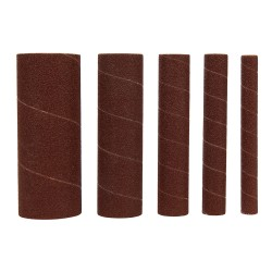Rodillos de lija de óxido de aluminio, 5 pzas grano 80