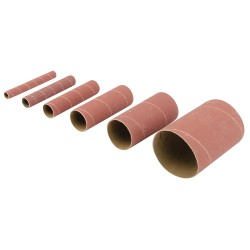 Rodillos de lija de óxido de aluminio, 6 pzas TSS80G grano 80
