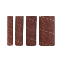 Rodillos de lija de óxido de aluminio, 4 pzas TSPSS grano 80