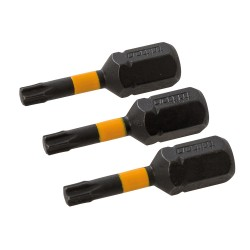 Puntas T15 para atornillador de impacto, 3 pzas T15, 25 mm