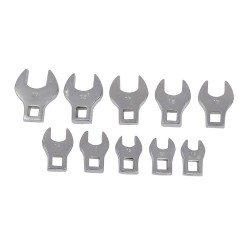Cabezales articulados para llave de carraca, 10 pzas 10 a 19 mm.