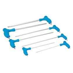Destornilladores hexagonales largos con mango en T, 7 pzas