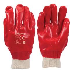 Guantes de PVC color rojo