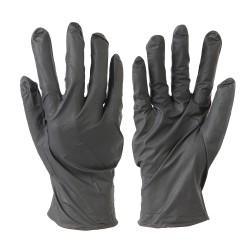 Guantes de nitrilo desechables sin polvo, 100 pzas. Color negro, M 9