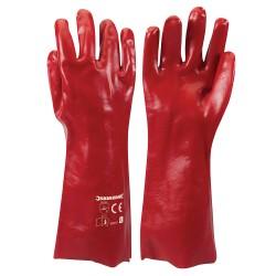 Guantes de PVC color rojo L10