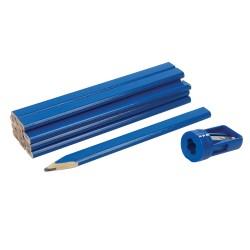 Lápices para carpintero y sacapuntas, 13 pzas