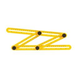 Regla/transportador de ángulos multifunción 120 x 250 mm