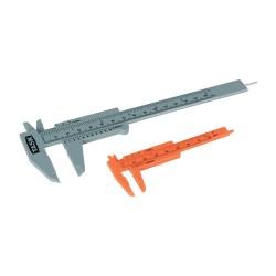 Calibre pie de rey de plástico, 2 pzas. 80 y 150 mm
