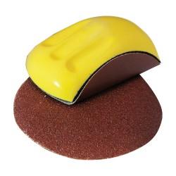 Taco de lija ergonómico base velcro para discos de 150 mm.