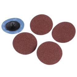 Discos de lija de montaje rápido 50 mm, 5 pzas. grano 60