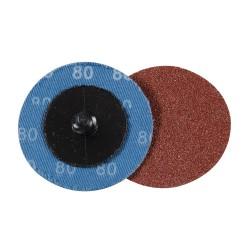 Discos de lija de montaje rápido 50 mm, 5 pzas. grano 80