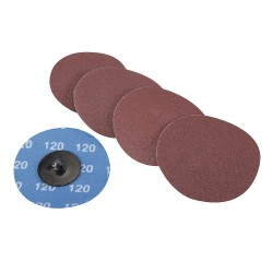 Discos de lija de montaje rápido 75 mm, 5 pzas. grano 120