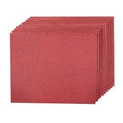 10 Hojas lija óxido de aluminio, 230 x 280 grano 80