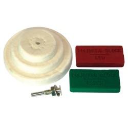 Juego de accesorios para pulido, 6 pzas. 50, 75, 100 mm
