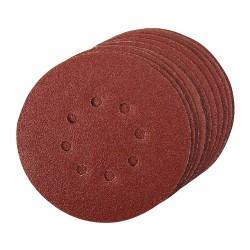 Discos de lija perforados velcro 150 mm, 10 pzas. grano 60