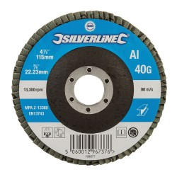 Disco laminado de óxido de aluminio 115 mm - Grano 40