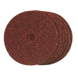 Discos de lija de fibra 100 x 16 mm, 10 pzas. grano 60