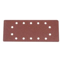 Hojas de lija perforadas de 115 x 280 mm, 10 pzas. grano 80