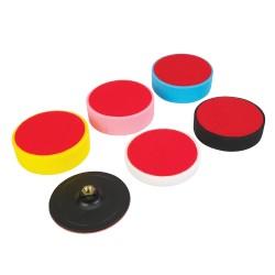 Juego de esponjas sujección velcro , 6 pzas. 150 x 50 mm
