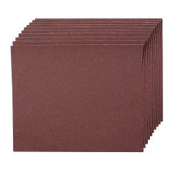 Hojas de lija con revestimiento de tela, 10 pzas. grano 120