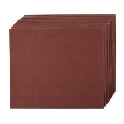 Hojas de lija con revestimiento de tela, 10 pzas. grano 60