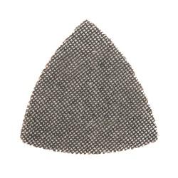 Lija triangular malla abrasiva 95 mm.  velcro grano 80