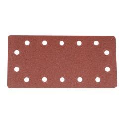 Hojas de lija perforadas velcro 115 x 230 mm, 10 pzas. grano 80
