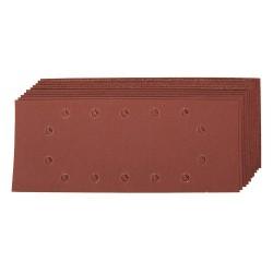 Hojas de lija perforadas de 115 x 280 mm, 10 pzas. grano 60