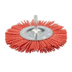 Cepillo circular abrasivo con filamentos de nylon Grueso, 100 mm