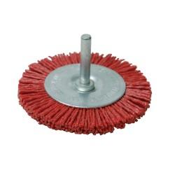 Cepillo circular abrasivo con filamentos de nylon Grueso, 75 mm