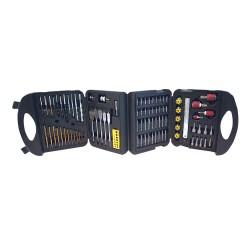 Maletín con accesorios para taladro, 113 pzas
