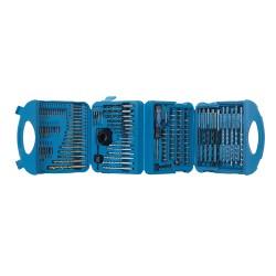 Maletín con accesorios para taladro, 126 pzas