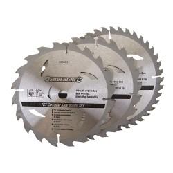 3 Discos WIDIA 190 mm. para sierra circular 20, 24, 40 dientes, 3 pzas