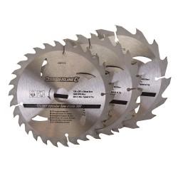 3 Discos WIDIA 150 mm- para sierra circular 16, 24, 30 dientes, 3 pzas