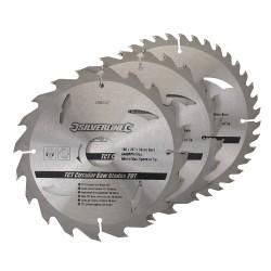 3 Discos WIDIA 180 mm. para sierra circular 20, 24, 40 dientes, 3 pzas
