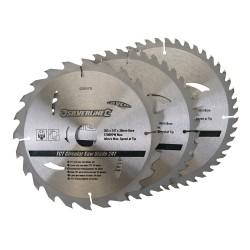 3 Discos WIDIA para sierra circular 24, 40, 48 dientes,