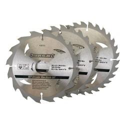 3 Discos WIDIA para sierra circular 16, 24, 30 dientes,