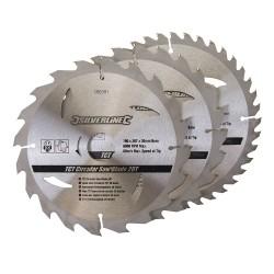 3 Discos WIDIA 190 mm. para sierra circular 20, 24, 40 dientes