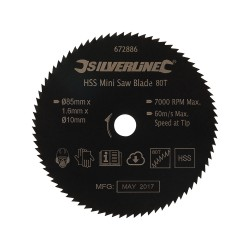 Disco de corte HSS para mini sierra circular