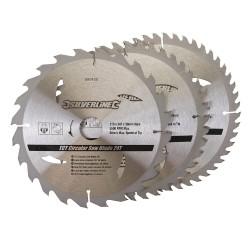 3 Discos WIDIA 210 mm. para sierra circular 24, 40, 48 dientes,