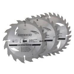 3 Discos WIDIA para sierra circular 16, 24, 30 dientes