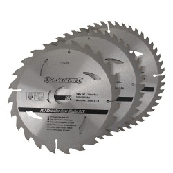 3 Discos WIDIA 200 mm. para sierra circular 24, 40, 48 dientes