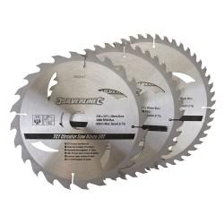 3 Discos widia para sierra circular 24, 40, 48 dientes
