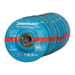 Discos con centro hundido 115 X 6 mm. para desbaste metal, 10 pzas