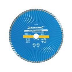 Disco de corte diamantado 230 mm, borde continuo acanalado Turbo Wave
