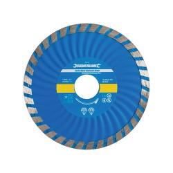 Disco de corte diamantado 115 x mm, borde continuo acanaladoTurbo Wave