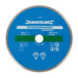 Disco de corte diamantado 180 mm, borde continuo para azulejos