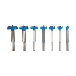 Brocas Forstner con revestimiento de titanio, 7 pzas. 12 - 35 mm